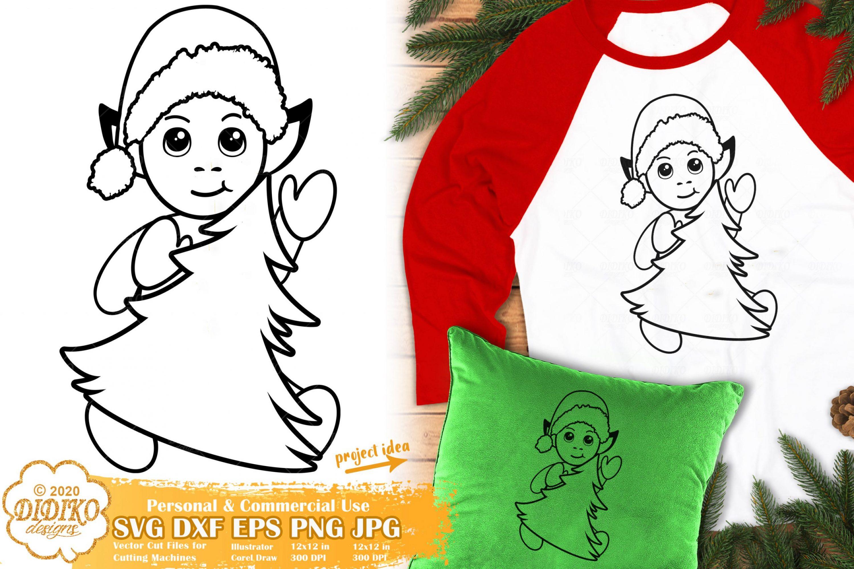 Elf SVG | Christmas Tree SVG | Cute Elf Svg Cut File