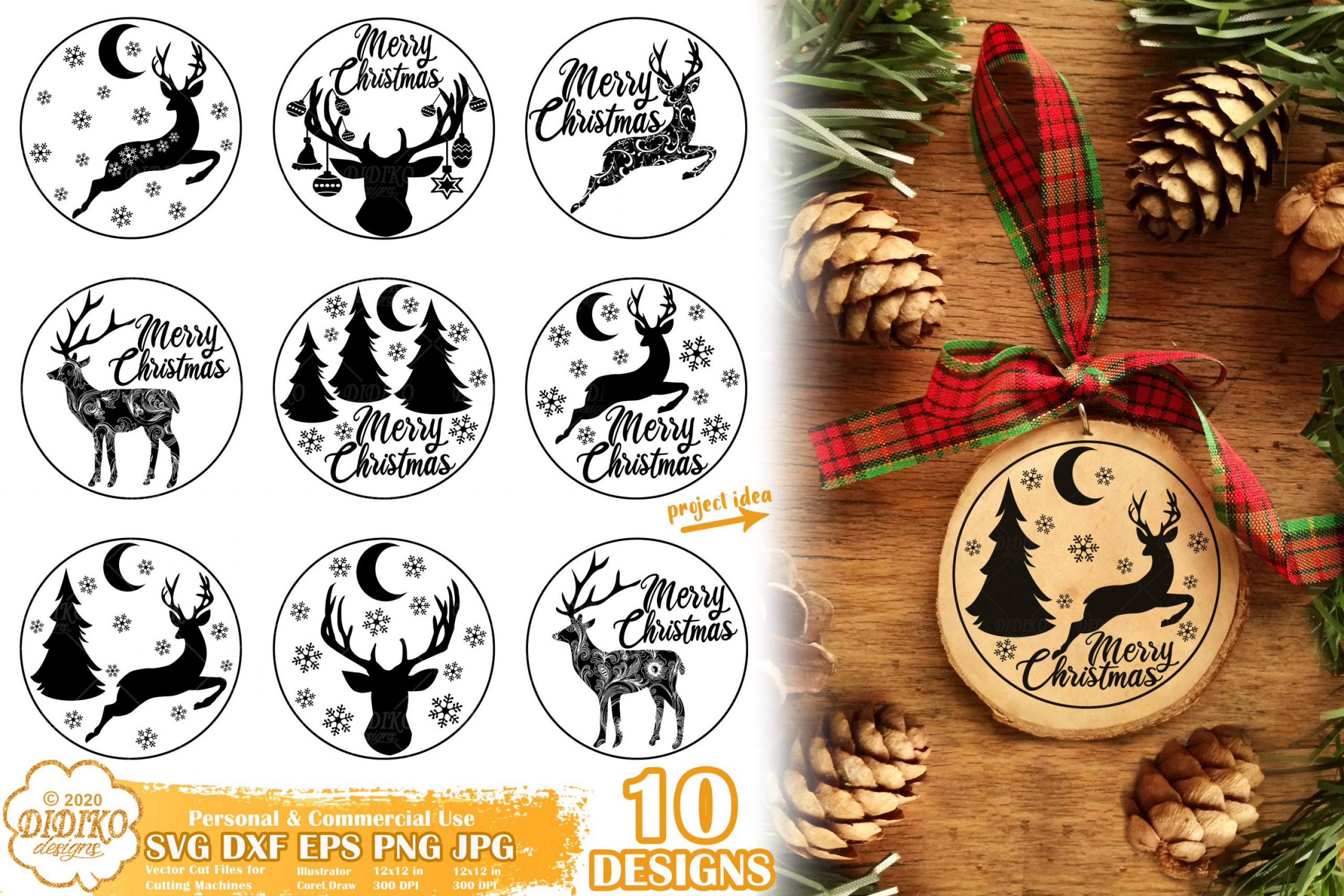 Christmas Ornament SVG Bundle | christmas svg bundle