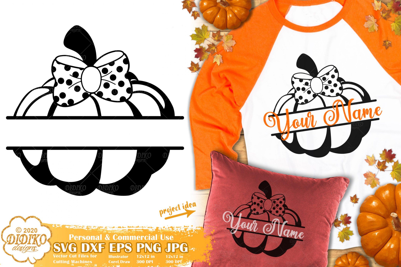Pumpkin Split Monogram SVG | Fall Monogram SVG