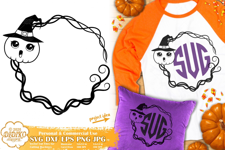 Halloween Monogram SVG | Halloween Frame Svg Files