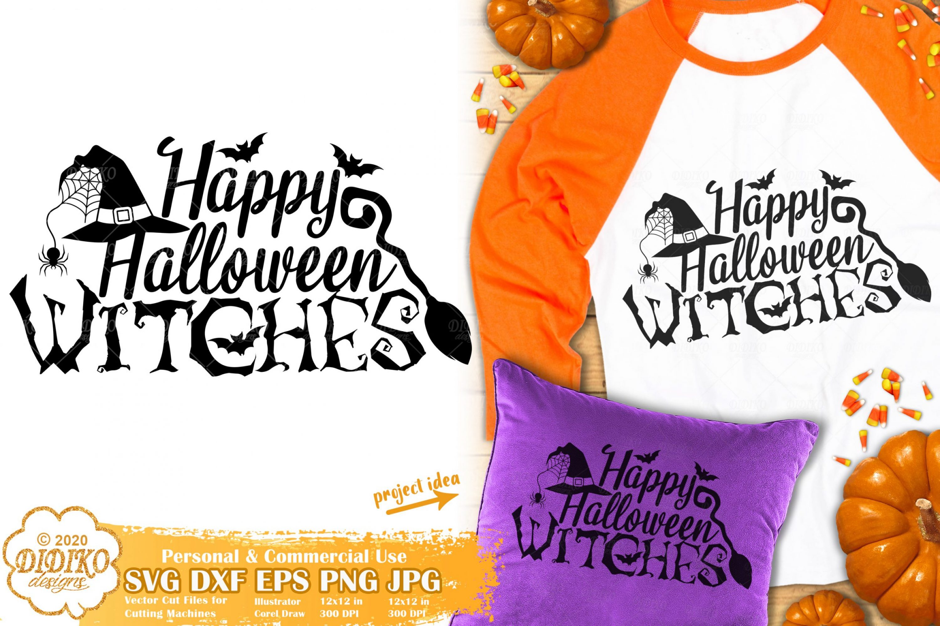 Happy Halloween Witches SVG | Funny Halloween SVG