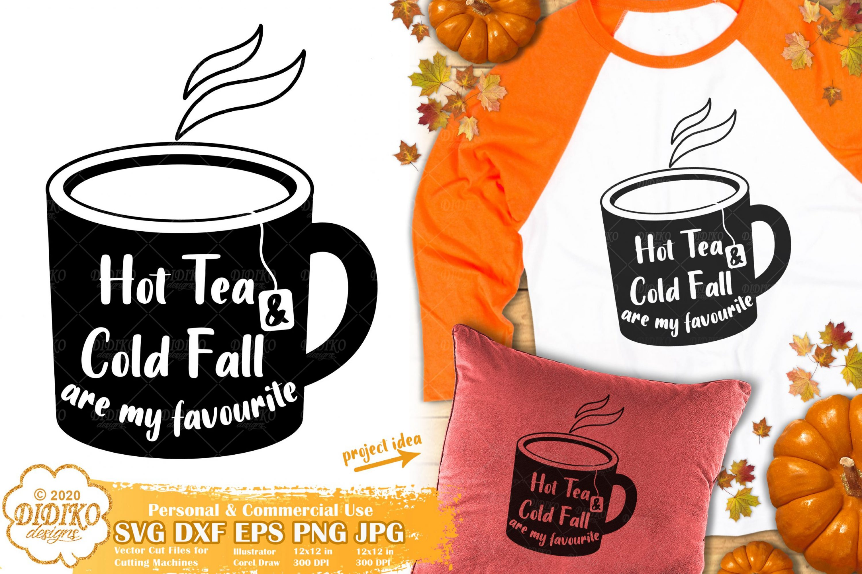 Fall Quotes SVG #2 | Tea SVG | Autumn Quotes SVG