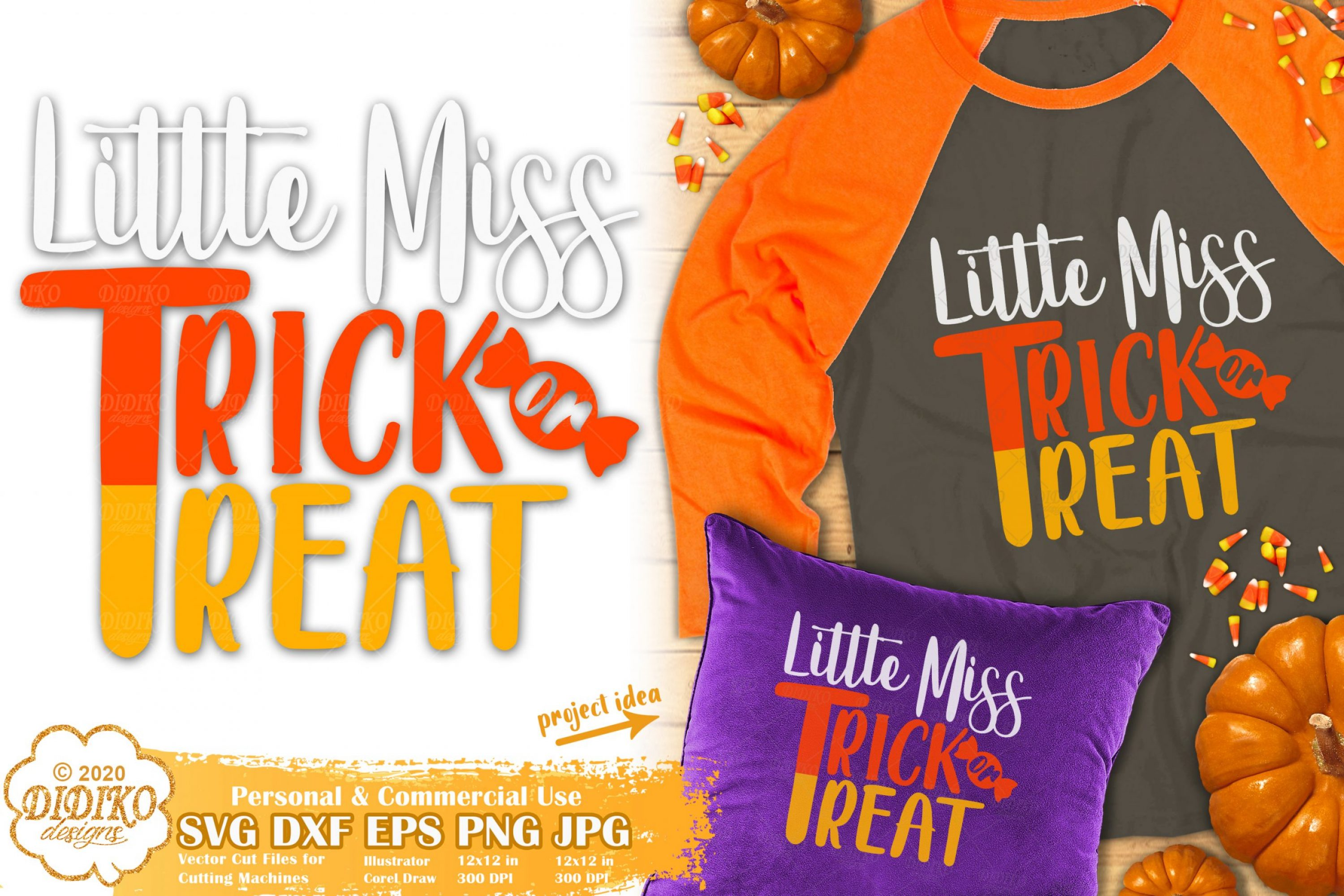 Trick or Treat SVG #2 | Candy Corn Svg | Little Miss Svg