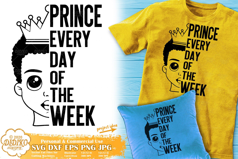 Black Prince SVG #9 | Black Boy SVG | Afro Words SVG
