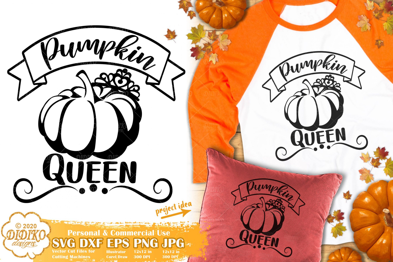 Pumpkin Queen SVG #2 | Thanksgiving SVG | Fall Svg