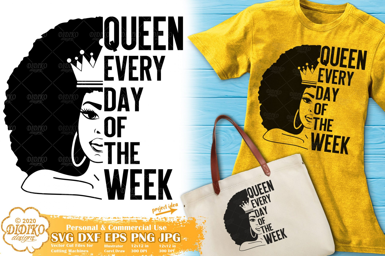 Black Queen SVG #12 | Black Woman SVG | Words Svg