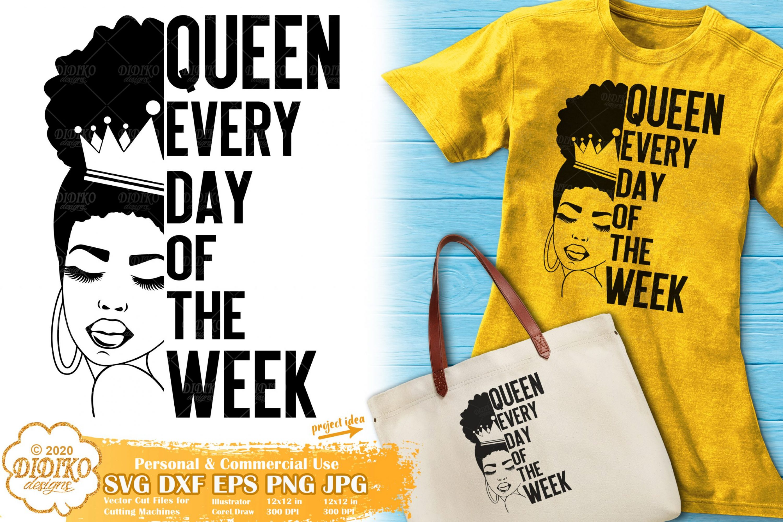 Black Queen SVG #11 | Black Woman SVG | Words Svg