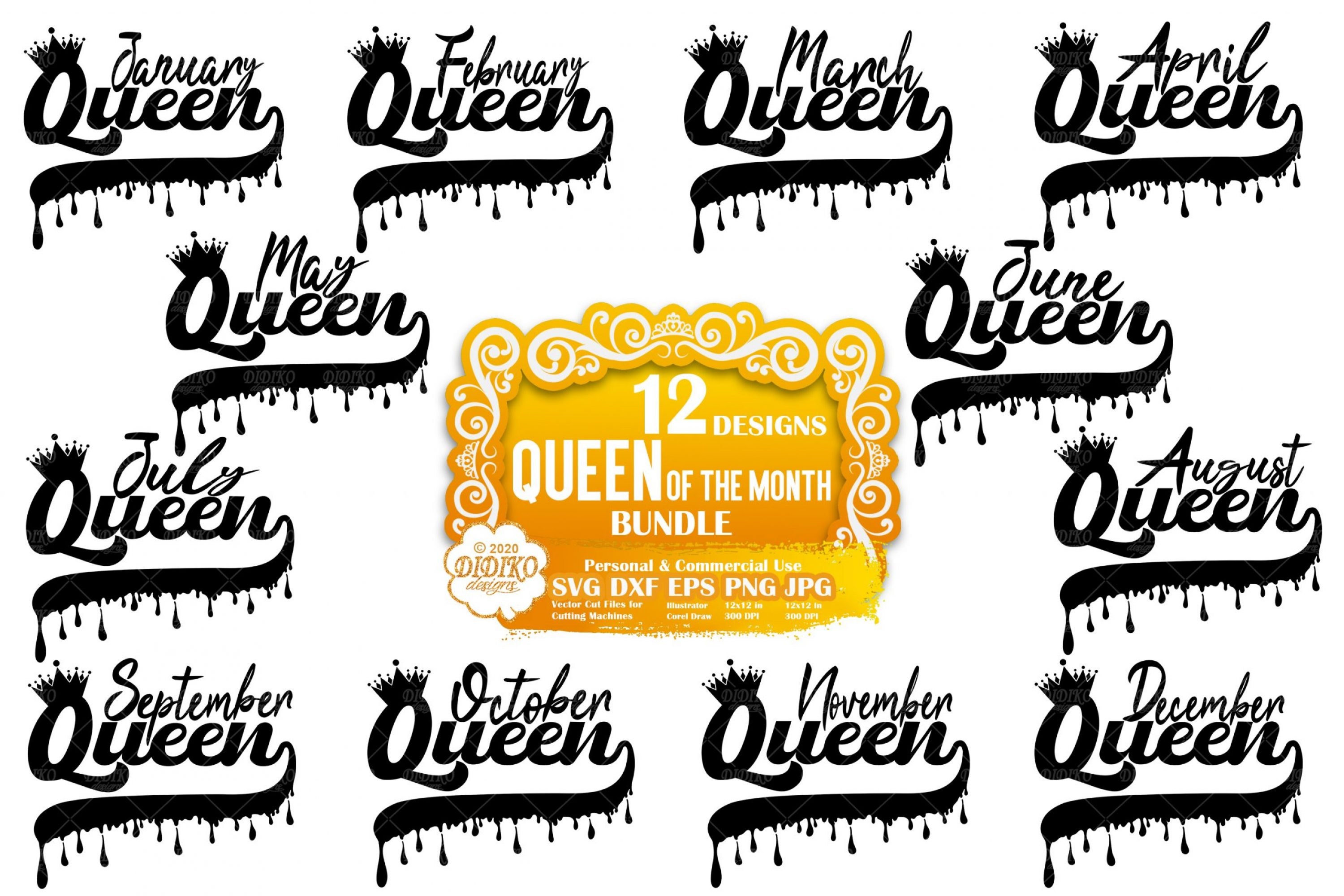 Black Woman SVG Bundle #4 | Black Queen SVG Files