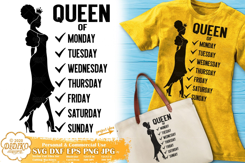 Black Queen SVG #13 | Black Woman SVG | Words Svg