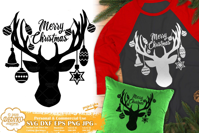 Christmas Reindeer SVG   Merry Christmas SVG Files