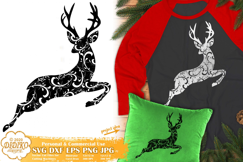 Reindeer Zentangle SVG | Christmas Mandala SVG