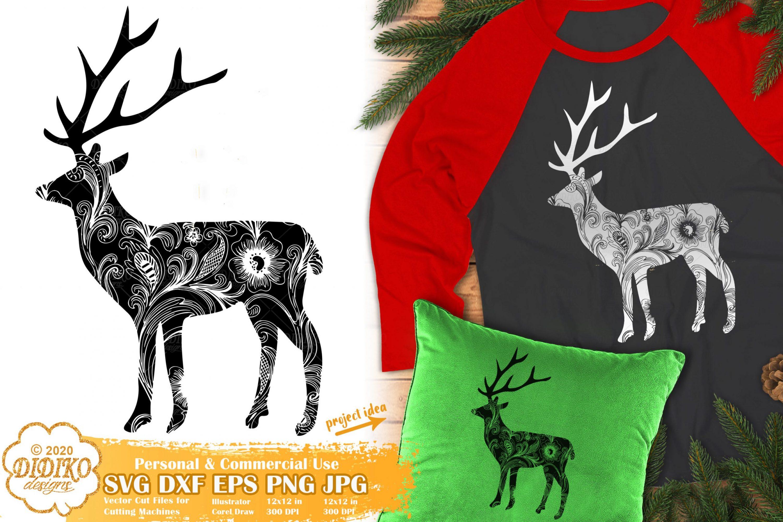 Zentangle Christmas SVG   Reindeer Mandala SVG files