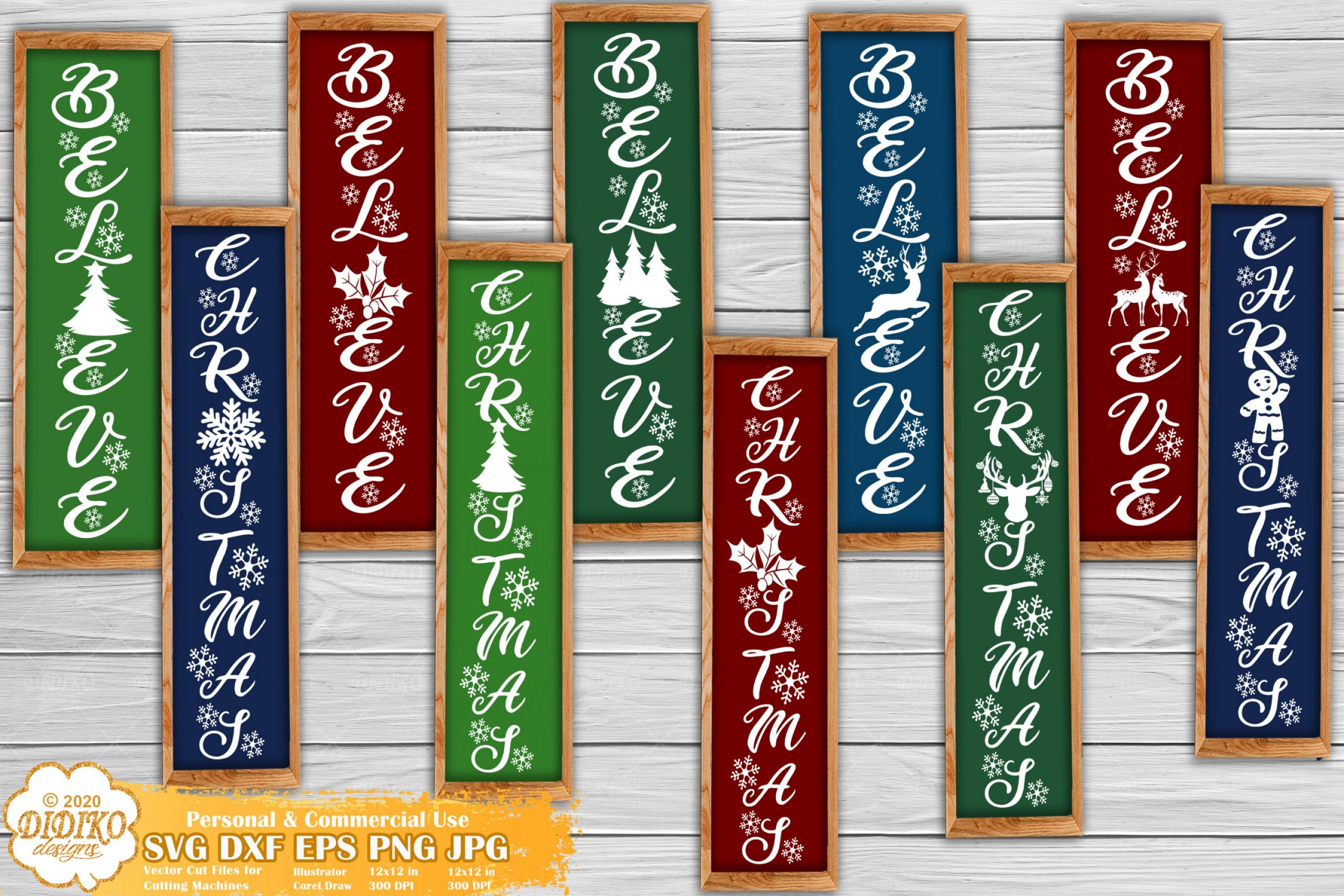 Christmas Porch Sign SVG Bundle #1 | Christmas SVG