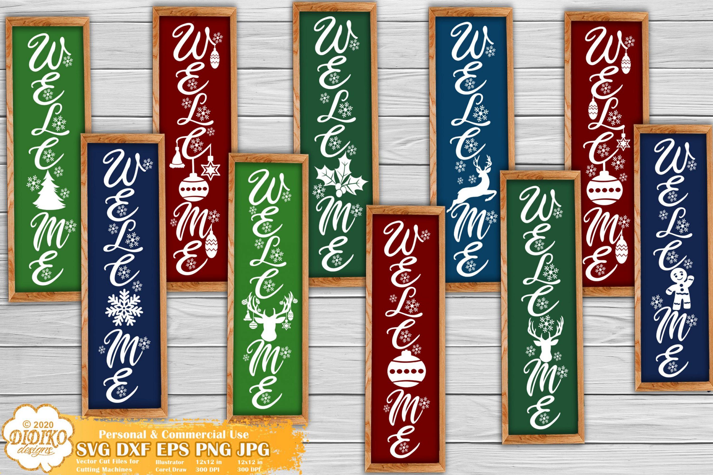 Christmas Porch Sign SVG Bundle | Welcome Sign SVG