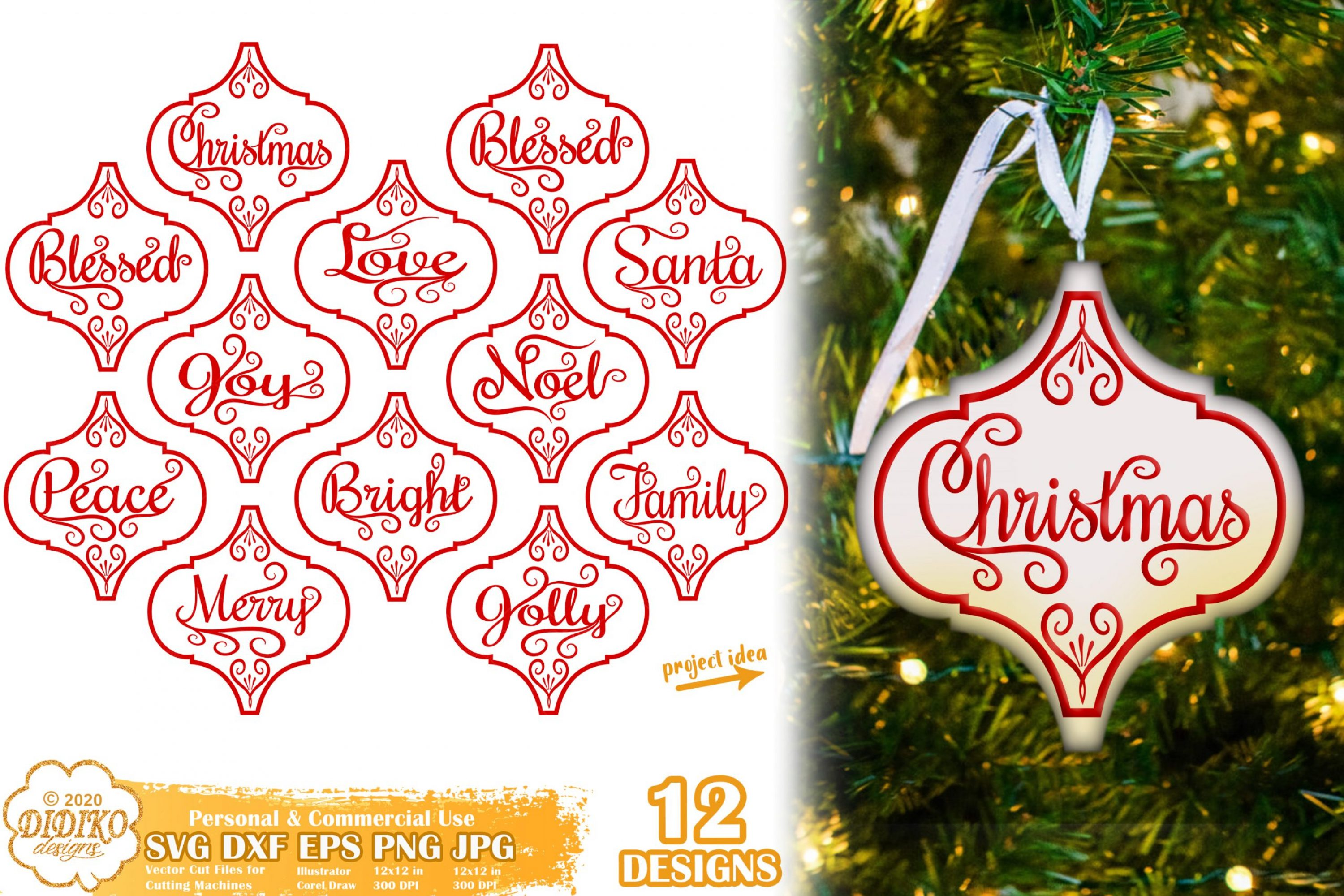 Arabesque Tile Ornament SVG #1, Christmas bundle svg