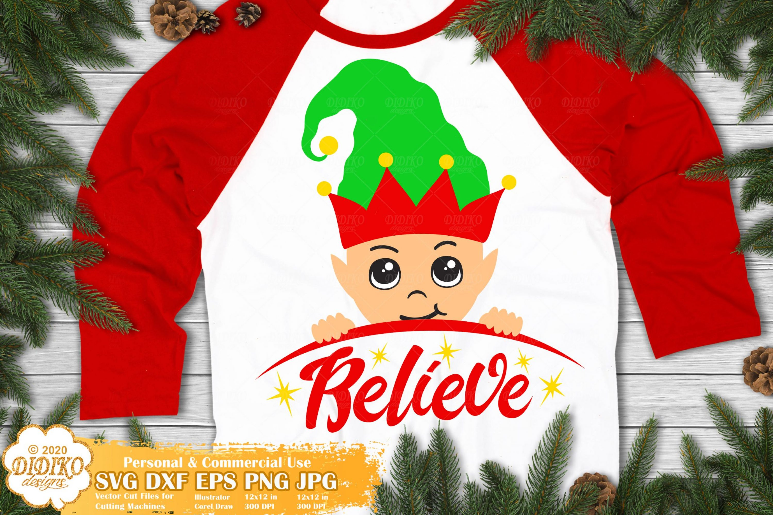 Elf SVG #2 | Believe SVG | Christmas Elf Svg Cricut File