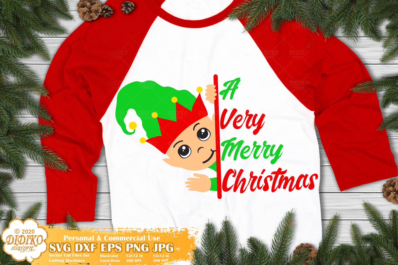 Elf SVG #3 | Merry Christmas SVG | Christmas Elf Svg