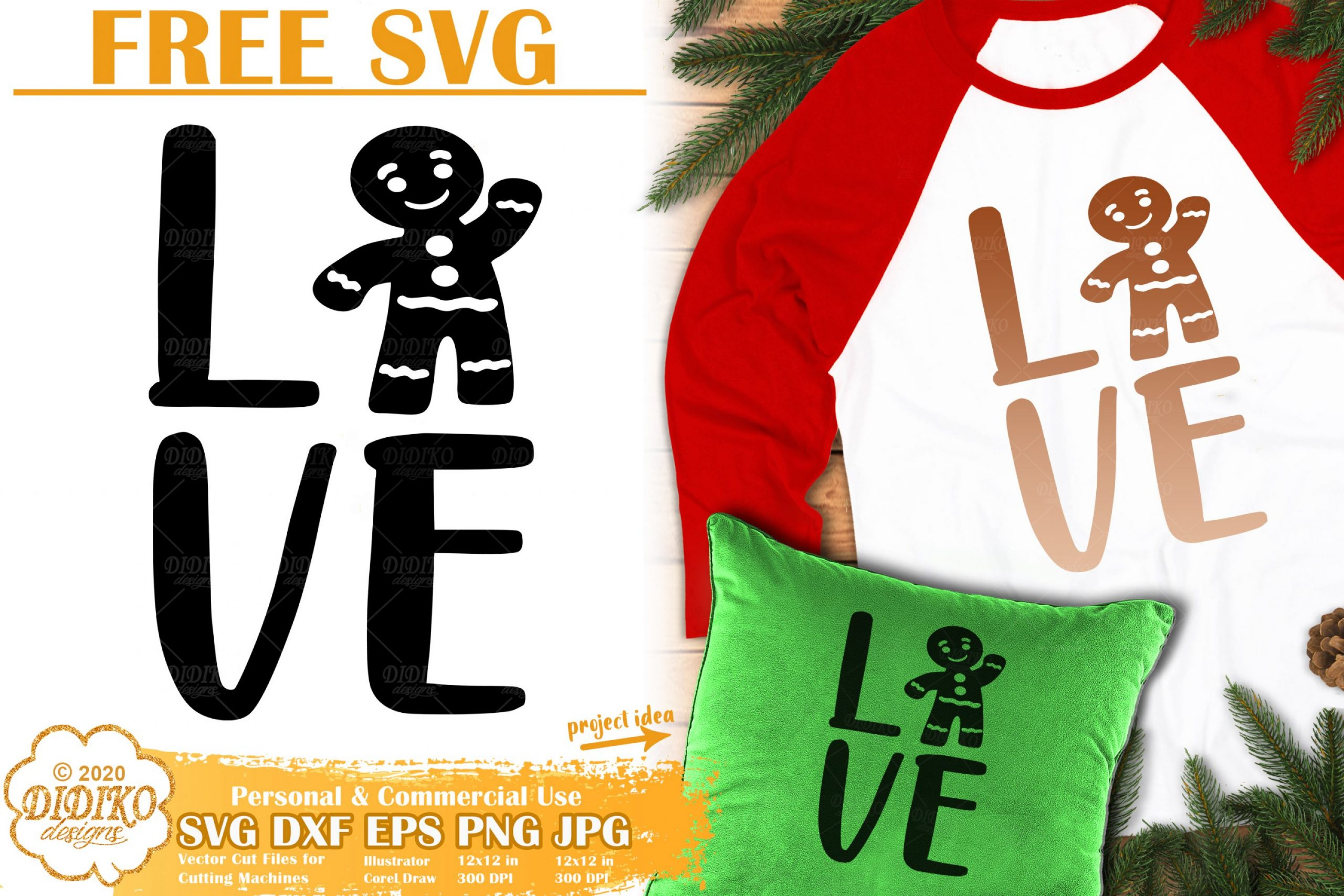 Christmas Cookie Free SVG | Free Ginger Bread Svg file