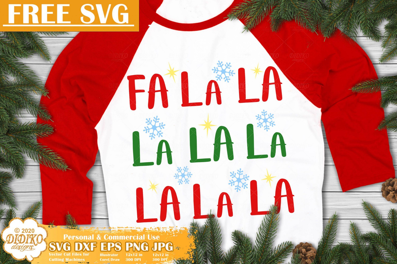 Fa La La La Free SVG | Christmas Free SVG Cricut File