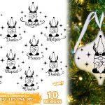 Reindeer Names Ornament SVG