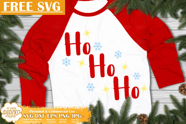 Ho Ho Ho Free SVG | Santa Free SVG | Christmas SVG