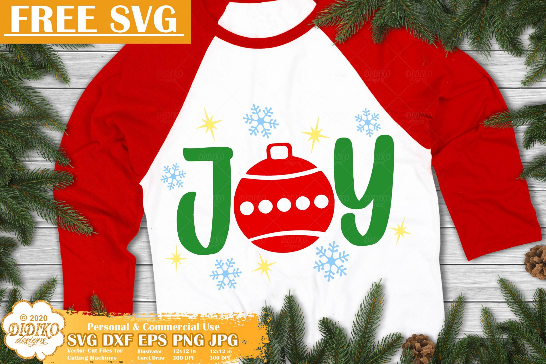 Joy Free SVG | Jolly Svg | Christmas Free SVG Cut Files