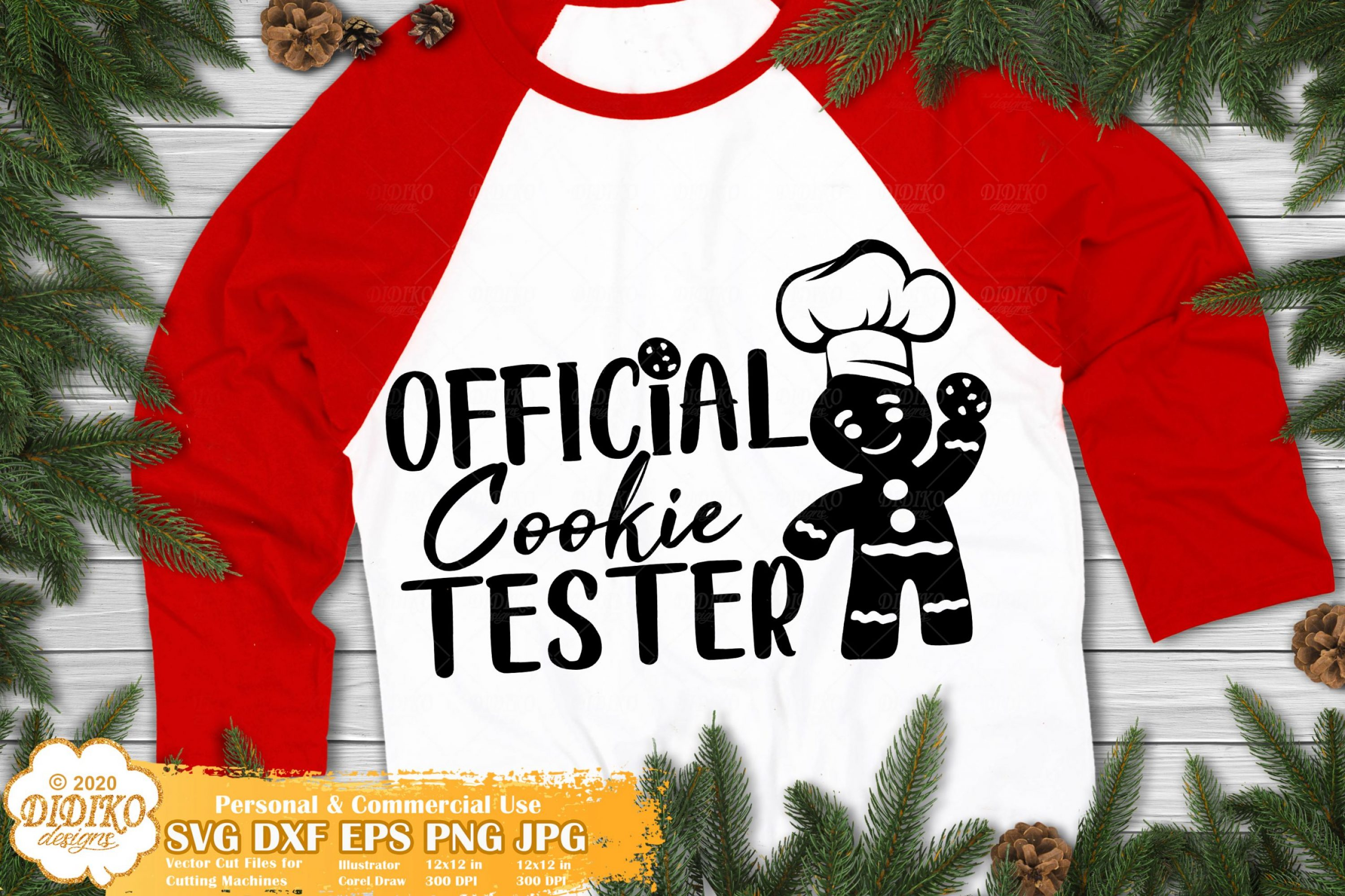 Christmas Cookie SVG #1 | Official Cookie Taster SVG