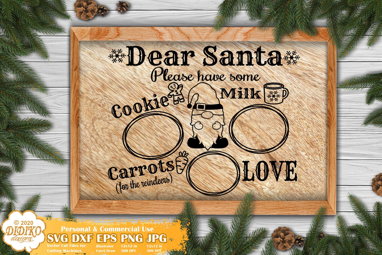 Santa Tray SVG #1 | Christmas Gnomes Svg | Santa svg