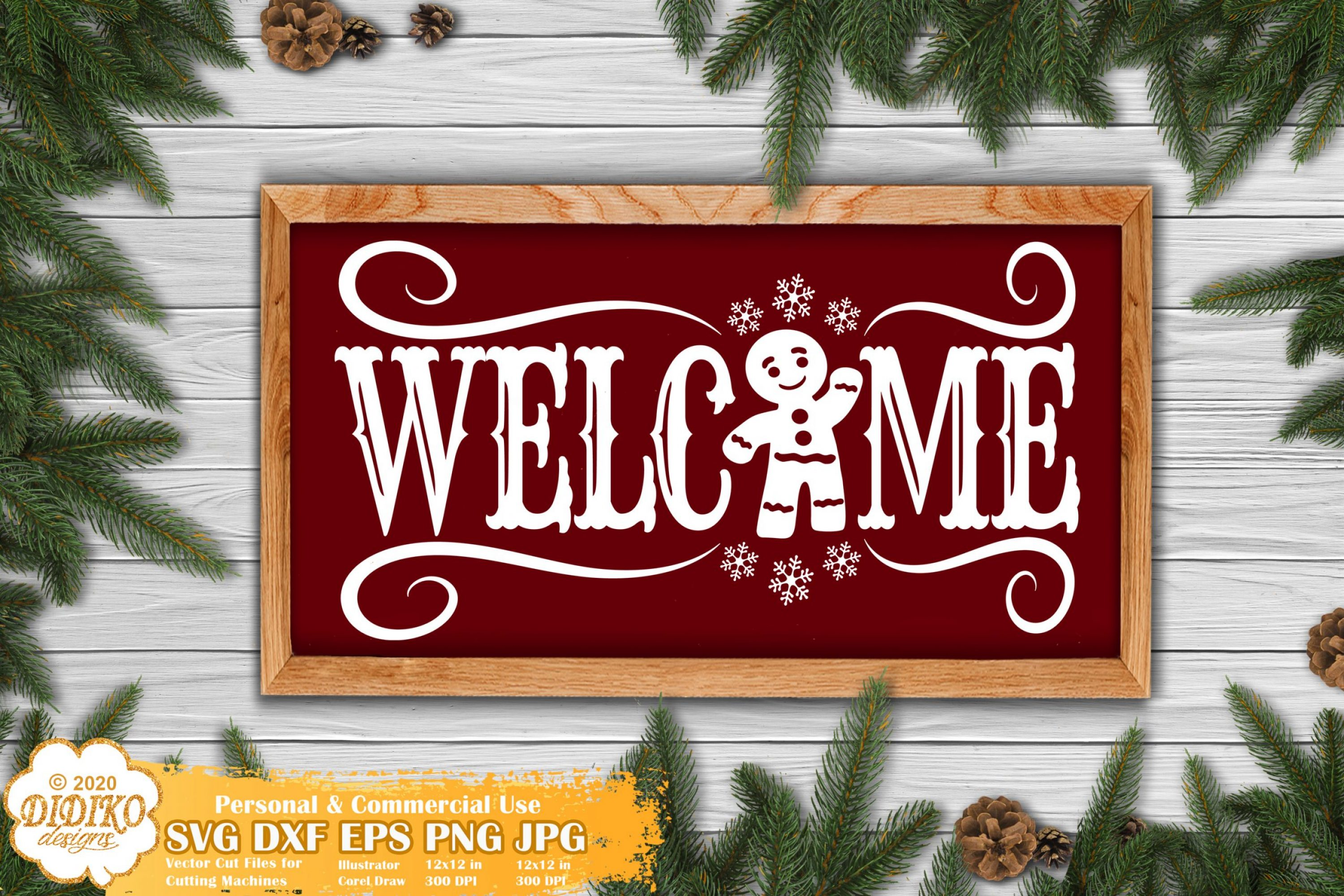 Christmas Sign SVG #1, Cookie Svg, Welcome Sign svg