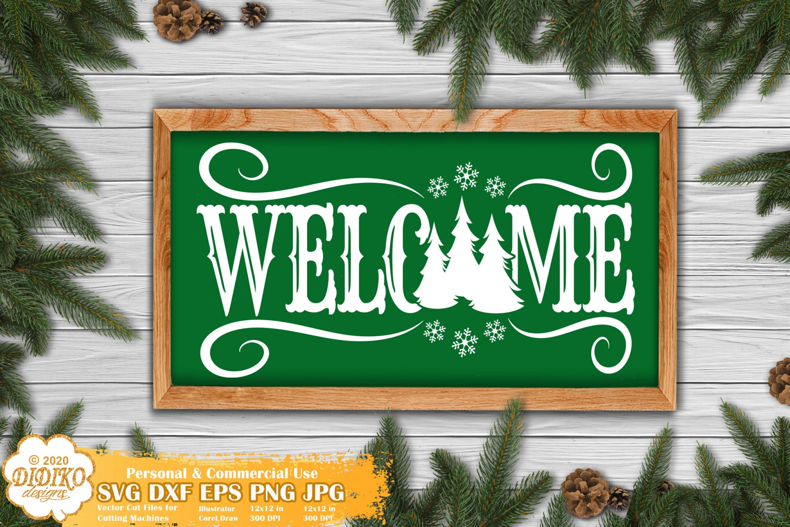 Christmas Sign SVG #2, Welcome Sign, Farmhouse Svg