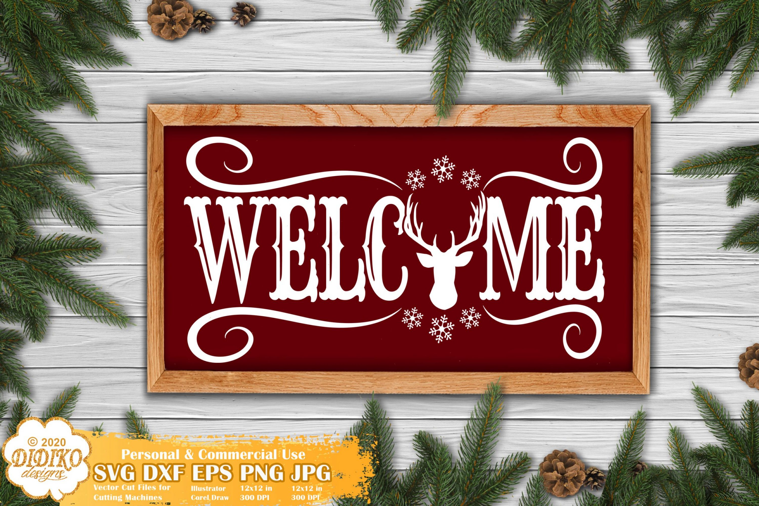 Christmas Sign SVG #3, Welcome Sign, Farmhouse Svg