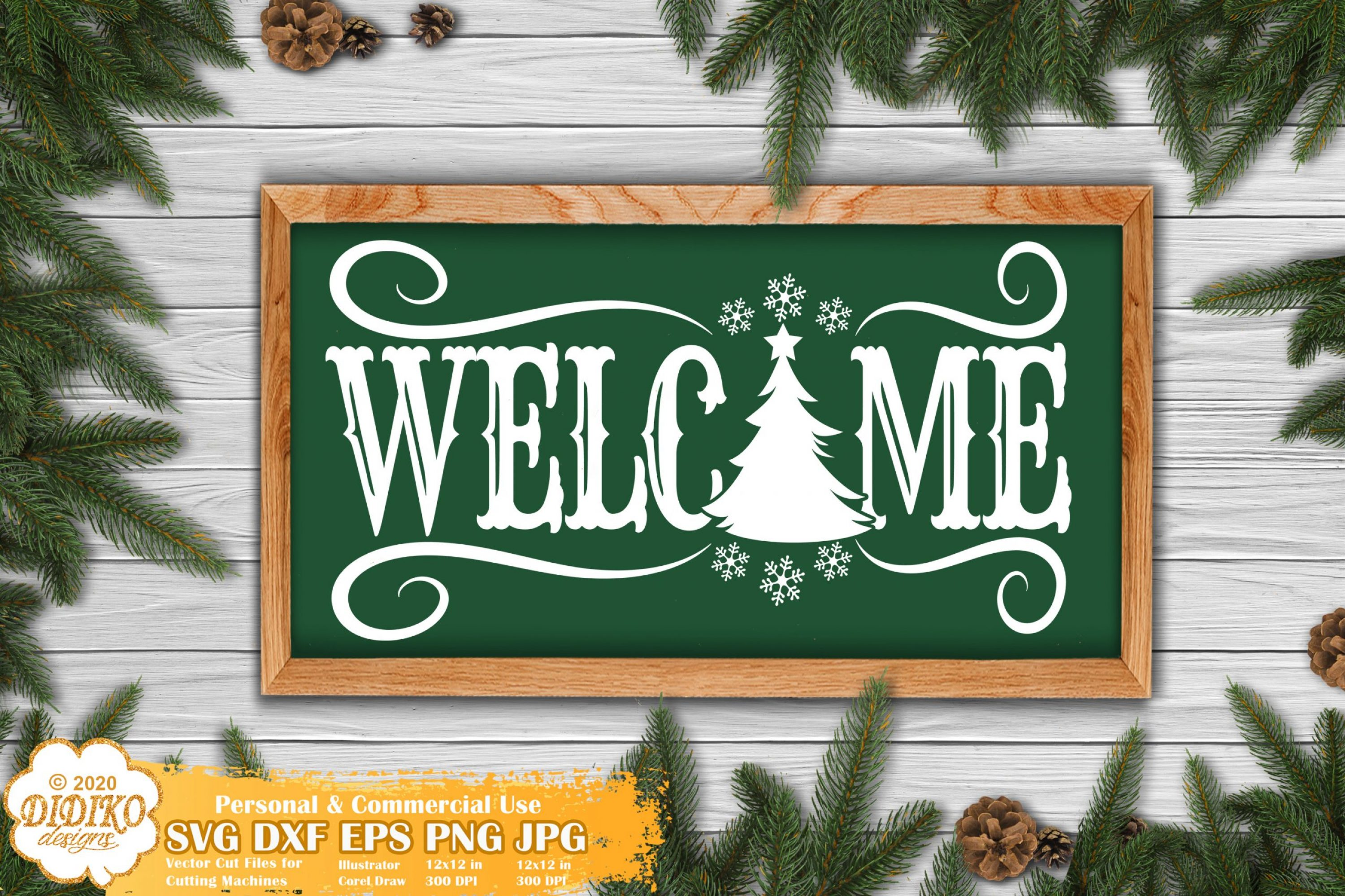 Christmas Sign SVG | Welcome sign Svg | christmas tree