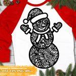 Snowman Zentangle SVG