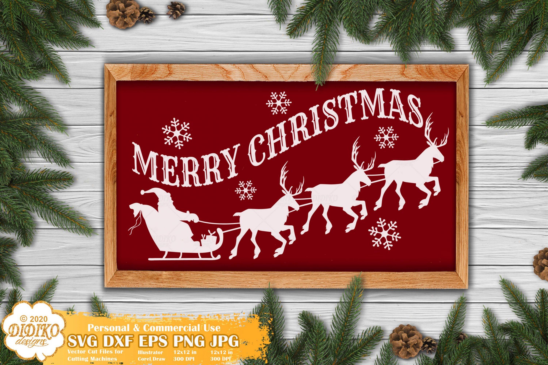 Merry Christmas SVG #2, Santa Svg, Christmas sign svg