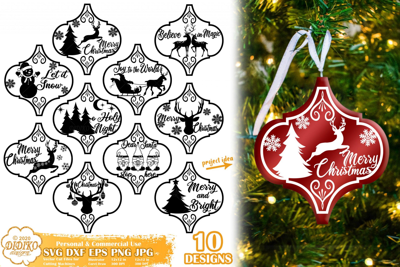 Arabesque Tile Ornament Bundle SVG #3, christmas svg