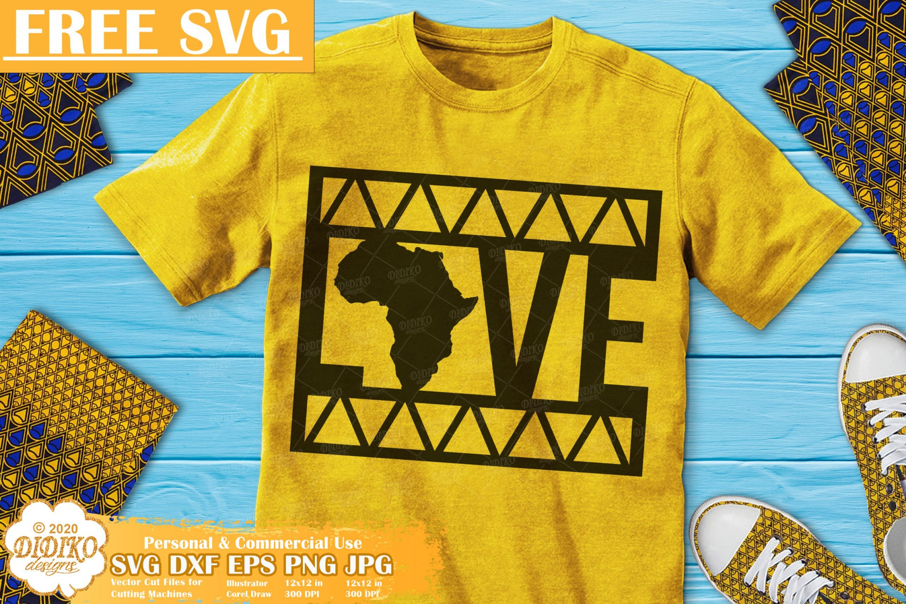 Black Love Free SVG, Black History Svg, Ankara Svg
