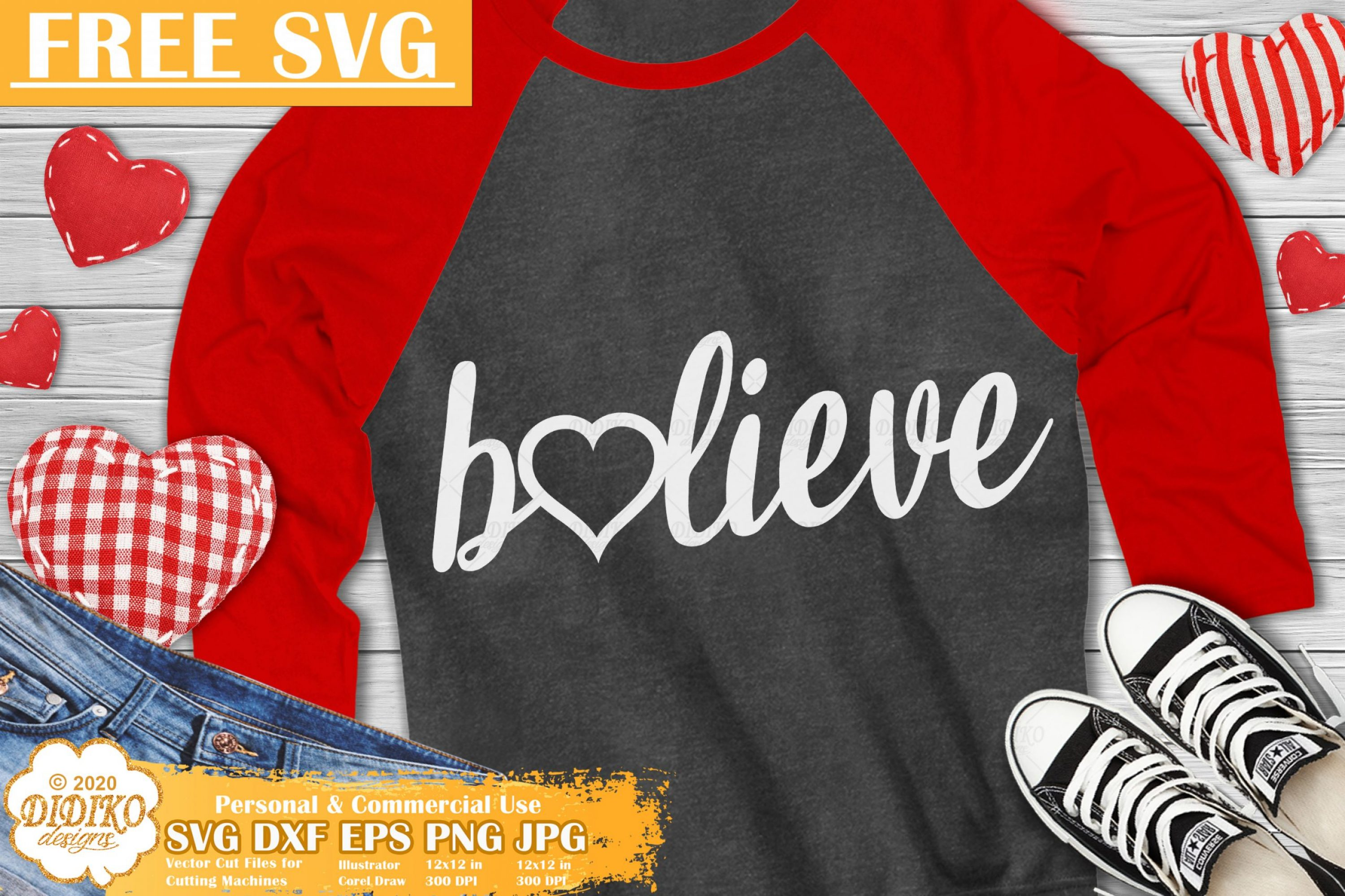 Valentine Free SVG #3, Believe Svg, Valentine's day svg