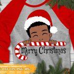 Christmas Black Boy SVG #1