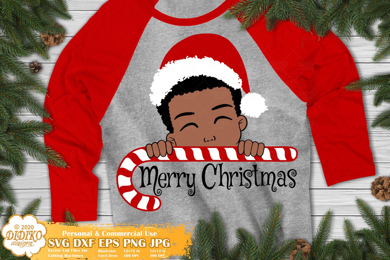Christmas Black Boy SVG #1, African American Boy Svg