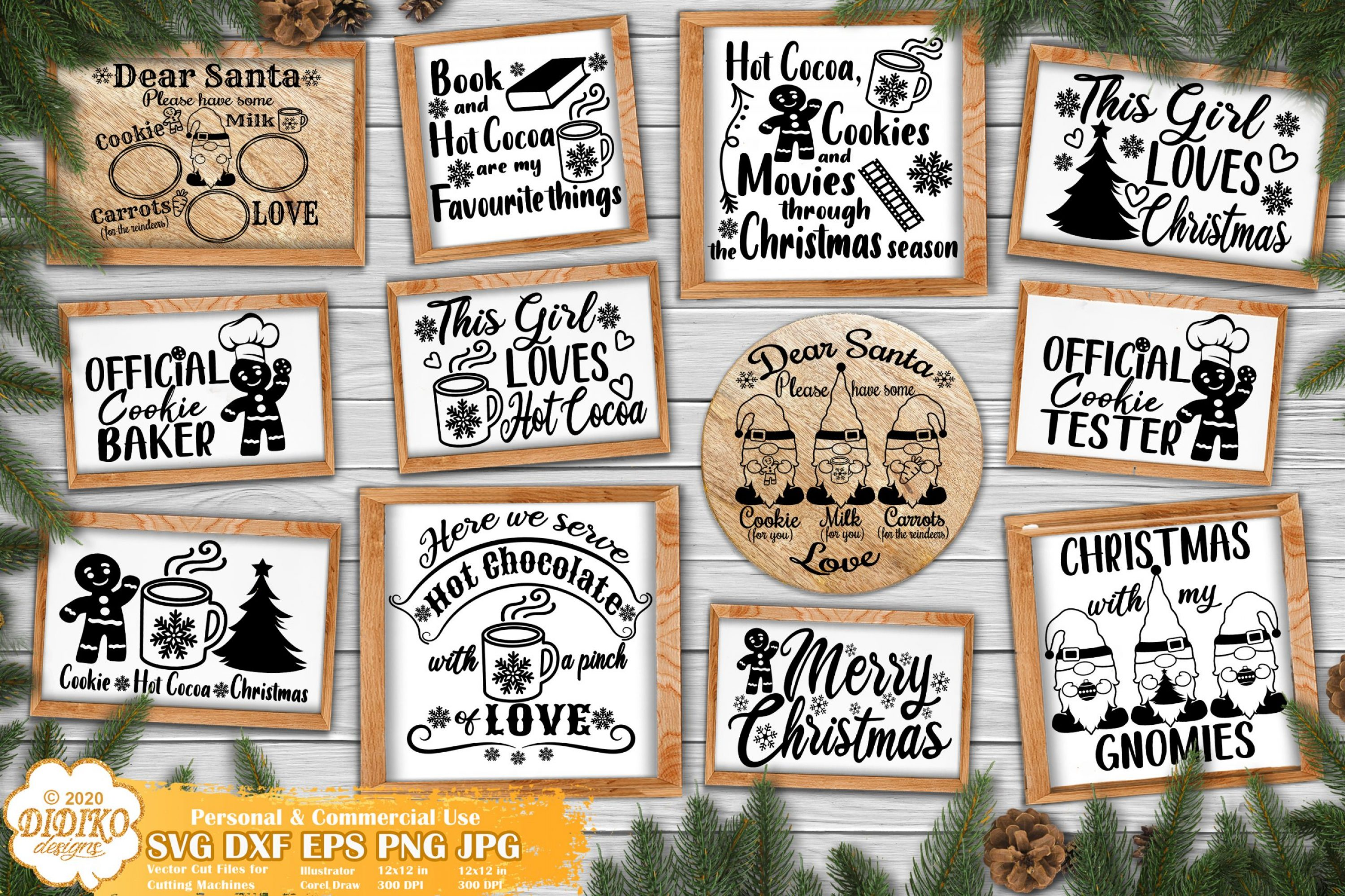 Christmas SVG Bundle #1, Christmas Kitchen Signs Svg