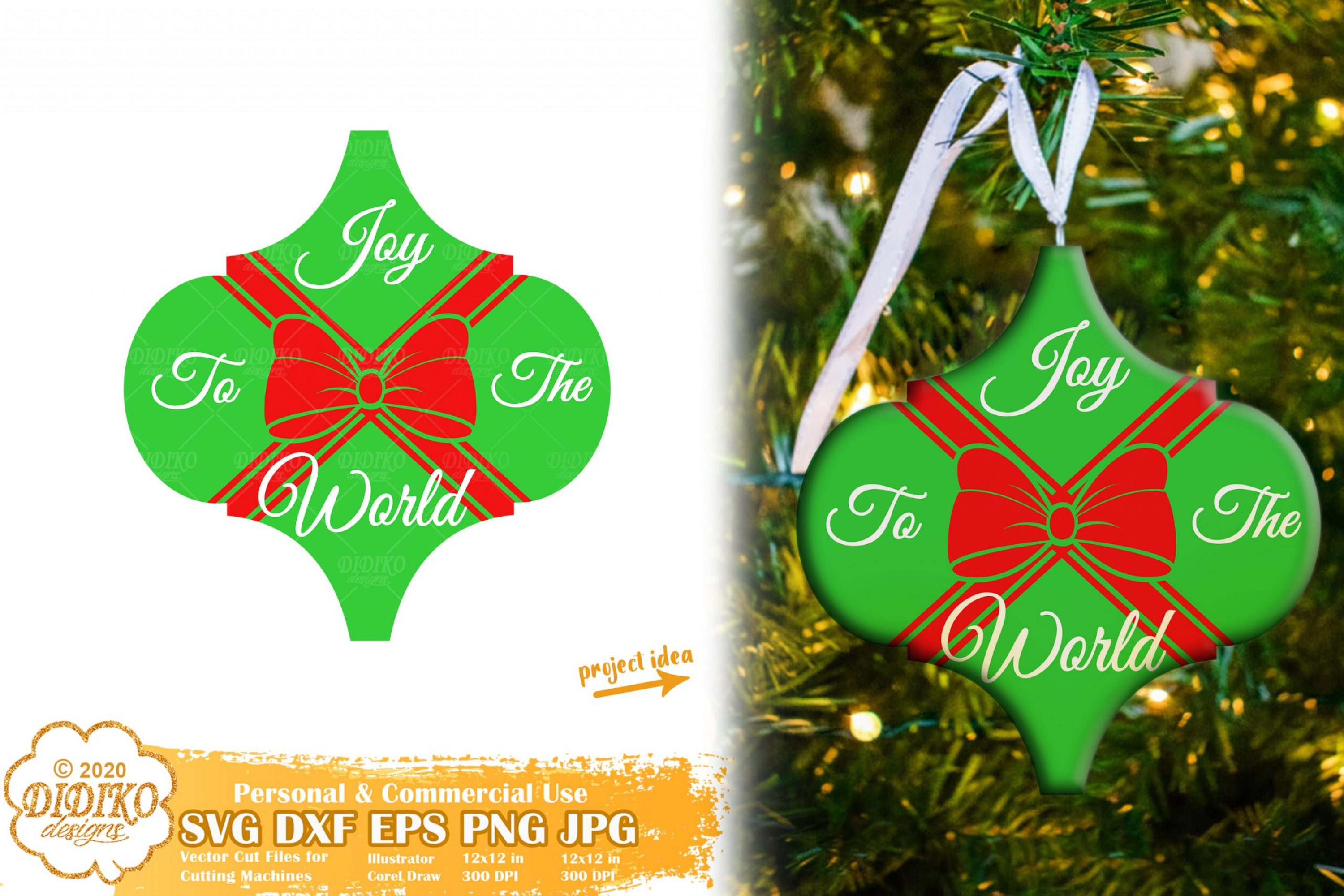 Arabesque SVG #3, Christmas Tile Ornament SVG