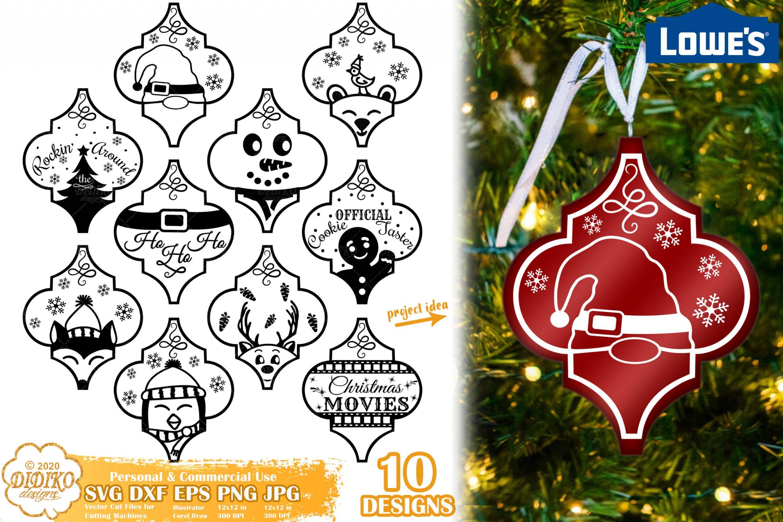 Arabesque Christmas Ornament Bundle SVG, Lowes tile