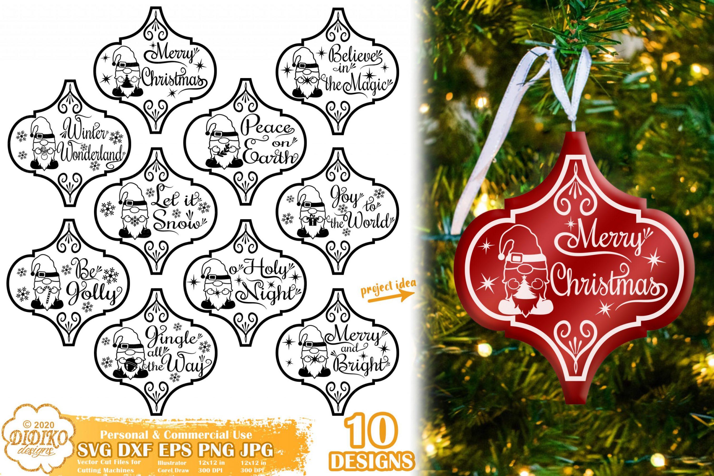 Christmas Ornament SVG Bundle, Arabesque Tile SVG