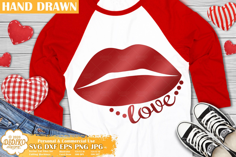 Lips SVG, Valentine SVG, Love Svg, Valentine's day svg