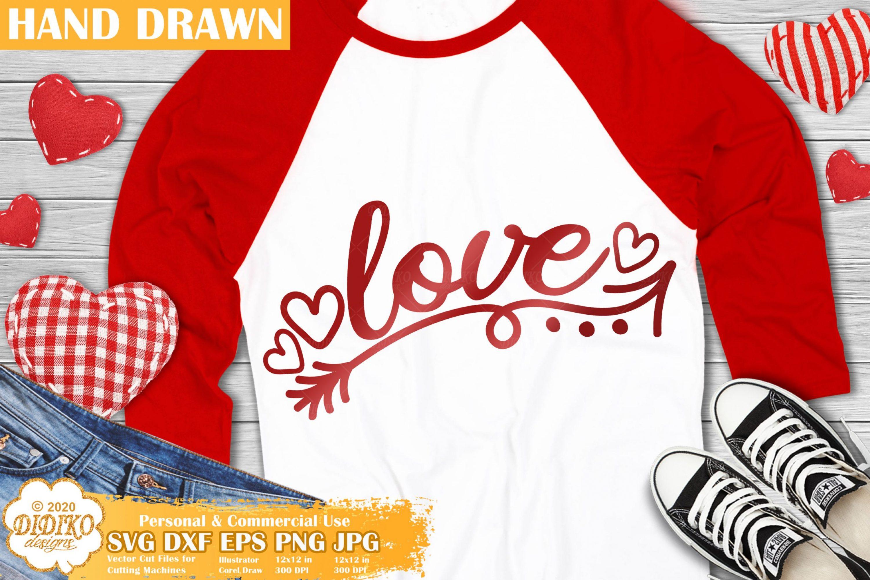 Love Arrow SVG, Valentines Day SVG, Love Svg Cut file