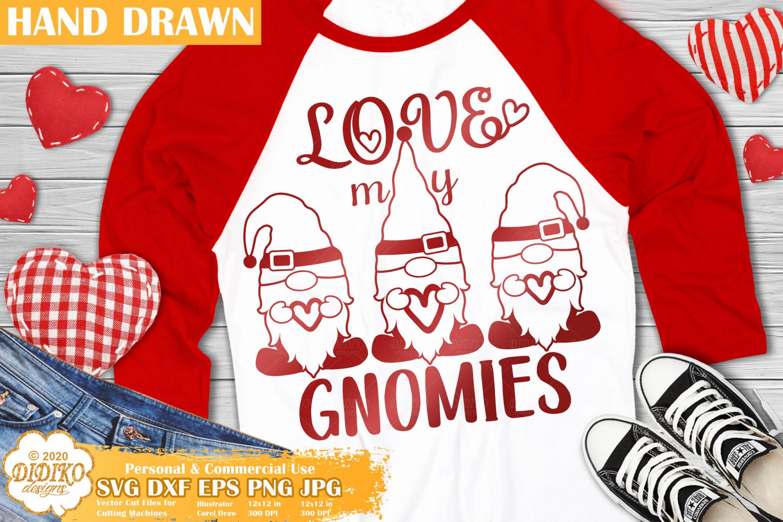 Valentine Gnomies SVG, Valentine's day kid svg, Gnome