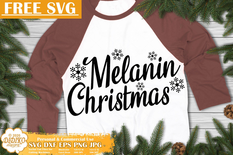 Melanin Free SVG #3, Black Santa Svg, Christmas Svg