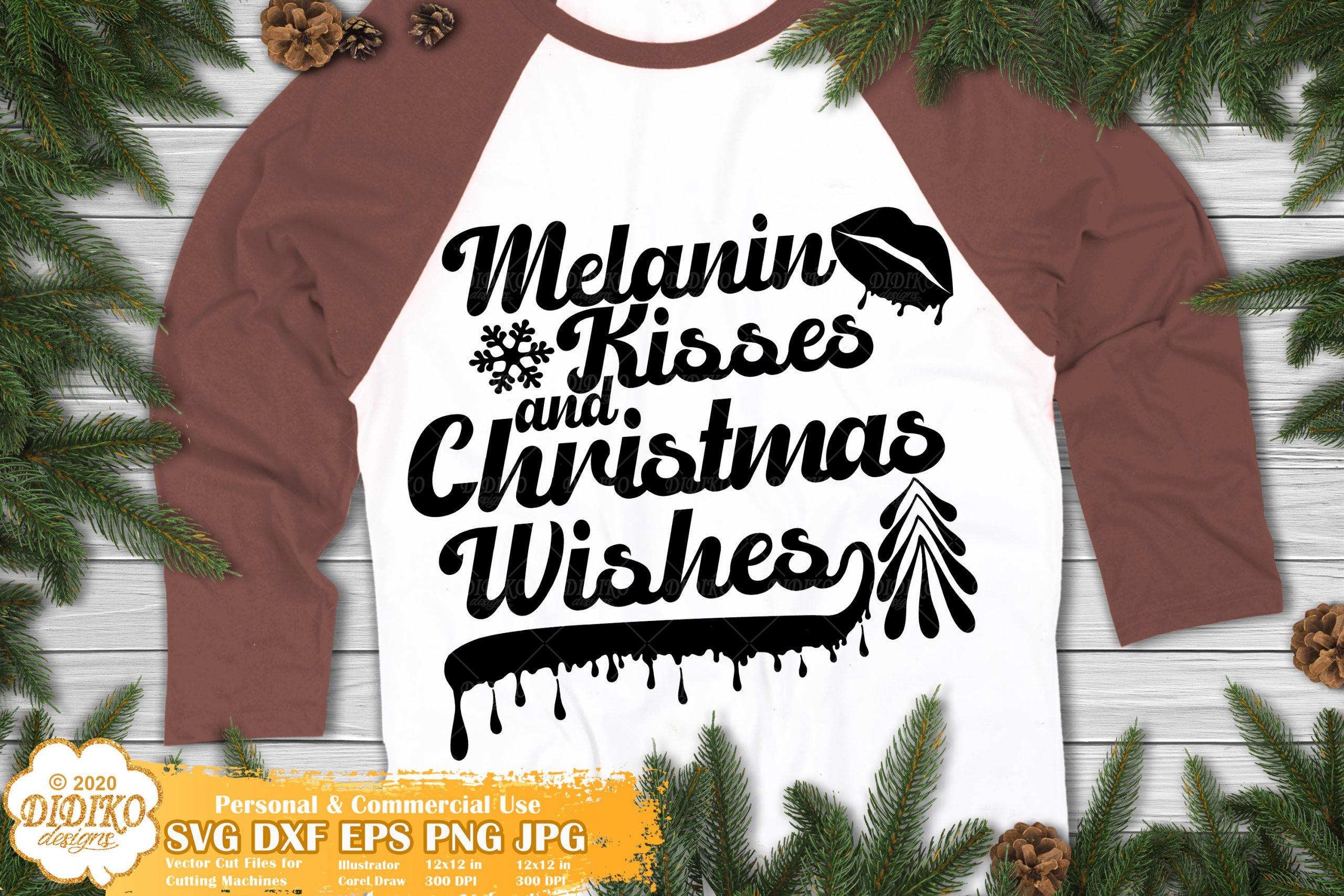 Melanin Christmas SVG