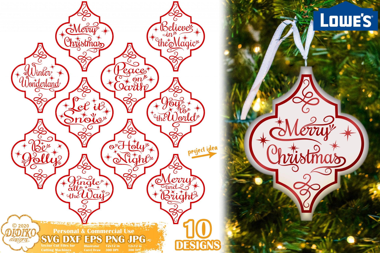 Arabesque Christmas Ornament SVG, Lowes Tile SVG