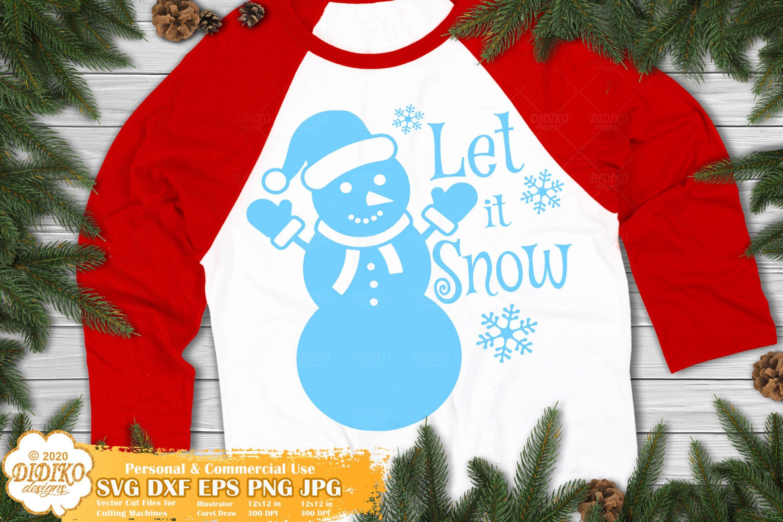 Let It Snow SVG, Snowman Svg, Christmas Svg, Winter